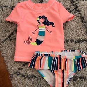 Carter's two piece bathing suit